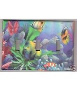 Tropical FishTriple Light Switchplate/Switch plate - $10.75