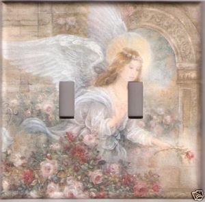 Super Size Double Light Switch Plate Beauitful Angel