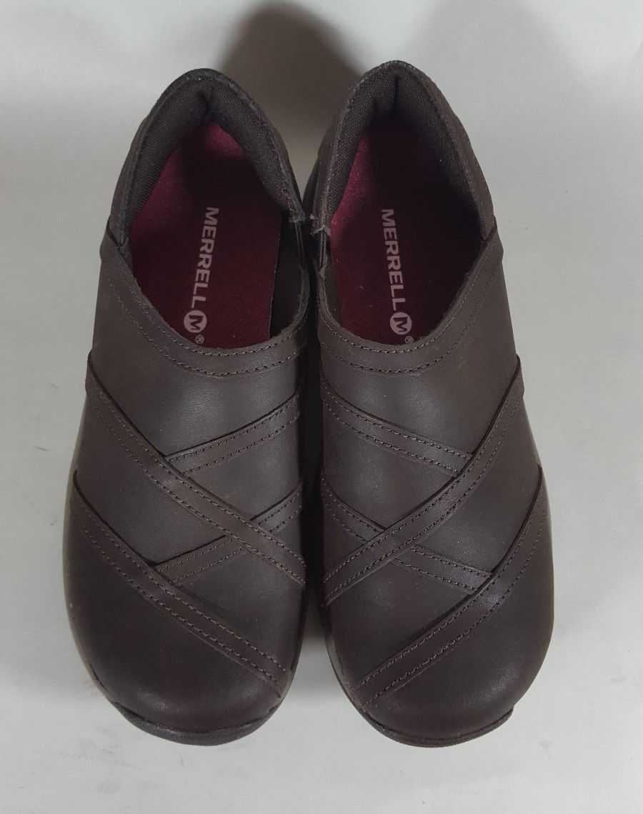 MERRELL Clogs Jovilee Lattice Shoes Brown Leather Slip on J178607C Womens 7