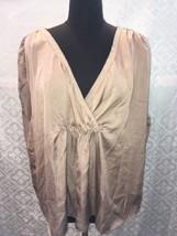 Talbots Women 16 W Brown Blouse Shirt Top Blouse New NWT Slinky 16W Plus - $22.15