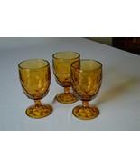 3 Viking Glass Georgian Amber Footed Iced Tea #6963 13 oz - $20.79