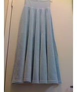 SONIA RYKIEL PARIS ICE BLUE VELOUR SKIRT Small - $55.99