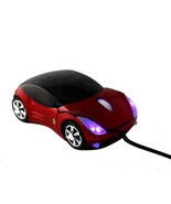 NEW Cool USB 3D Ferrari Car Shape Red Optical mouse Mice for Laptop PC - $7.88
