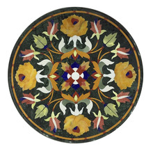 "23""x23"" Marble Coffee Table Top Mosaic Decor Real Hakik Inlay Marquetry ... - €1.128,19 EUR"