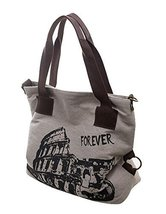 Fashion Canvas Retro Handbag Shoulder Bag Messenger Bag Small Light GREY