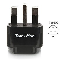 UK Travel Adapter for Type G Plug - Works with Electrical Outlets in United King
