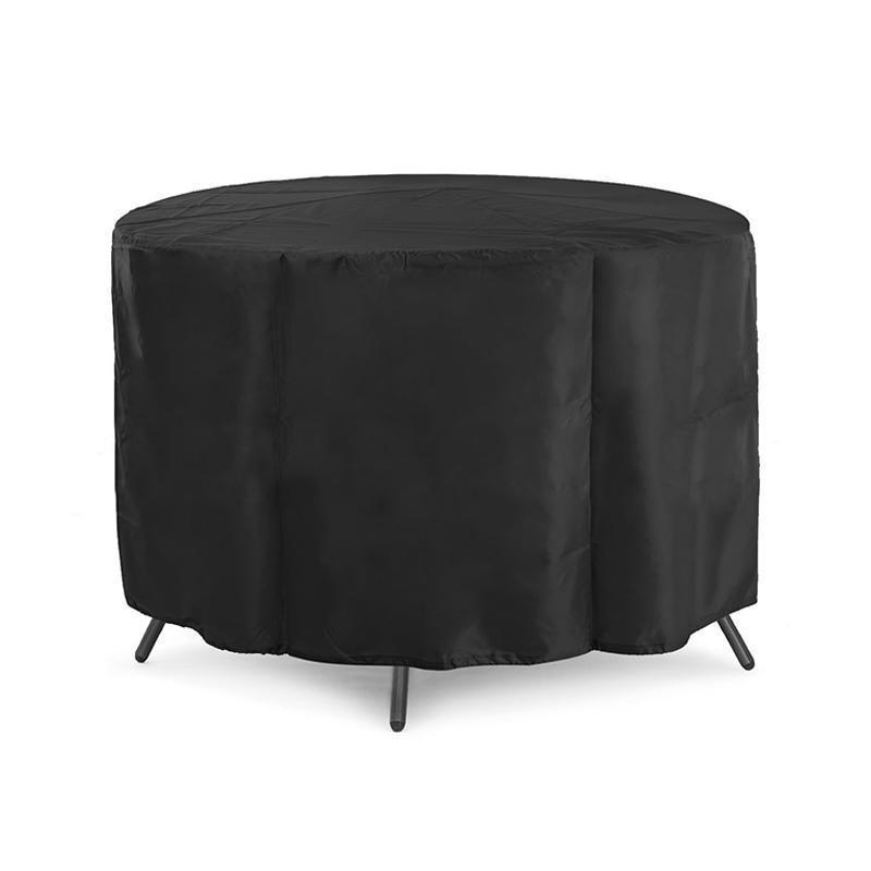 Furniture Dust Cover Fabric: Outdoor Garden Patio Black 210d Oxford Cloth Round