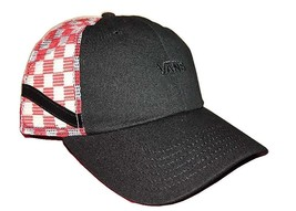 Vans Off The Wall CLASSIC V SIDESTRIPE Trucker Hat Cap CHECKERBOARD RED ... - $18.65