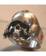 Commerative MIG15 Aviator Skull Ring Sterling Silver - $65.00