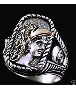 Alexander the Great 10 Karat gold Helmet ring ster sil - $185.00