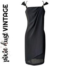 Vintage Dress Party LBD Joseph Ribkoff Little Black 80s 1980s Retro Size... - $51.13