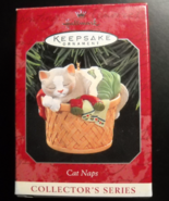 Hallmark Keepsake Christmas Ornament 1998 Cat Naps Laundry Basket Bricke... - $10.99
