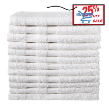 NEW WASHCLOTHS 12 PACK 12X12 INCHES WHITE 1LBS 100% COTTON GYM SALON SPA... - $11.57 CAD