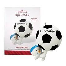 Soccer Star Hallmark Keepsake Ornament 2014  - £14.17 GBP