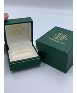 Vintage Antique  Ring Box Green Tiny Jewel Box Washington DC Jewellery G... - $13.78