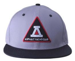 Asphalt Yacht Club Bermuda Triangolo Nero Grigio 5 Snapback Baseball Hat Nwt