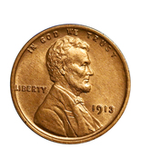 1913 P Lincoln Wheat Cent - Gem BU / MS / UNC - $1.456,76 MXN