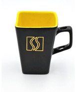 Disaronno Italian Liqueur Black Yellow Square Tall Mug Spoon Holder Hand... - $12.95