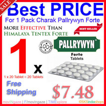 Charak Pallrywyn Forte 20 Tablet More Potent Than Himalaya Tentex Forte Tablets - $7.98