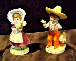 Boy and Girl KW7535 AA18-1189  2 Lefton Vintage Figurines image 4