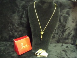 """Vintage Emmons Matched 15"""" Pendant Necklace And Clip On Earrings Set With Box - $24.75"""