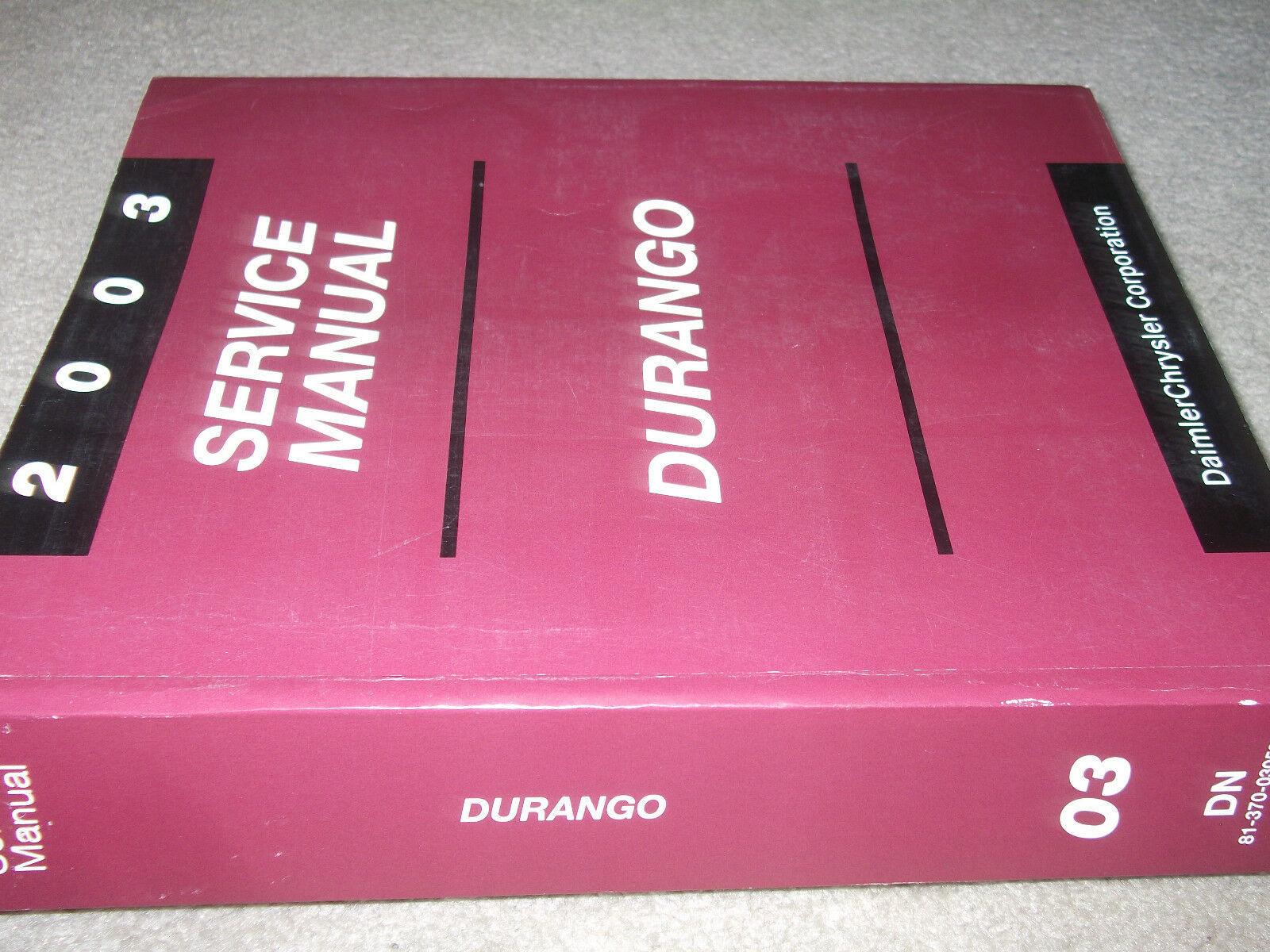 2003 Dodge Durango Service Reparatur Shop Werkstatt Manual OEM Fabrik Buch Mopar