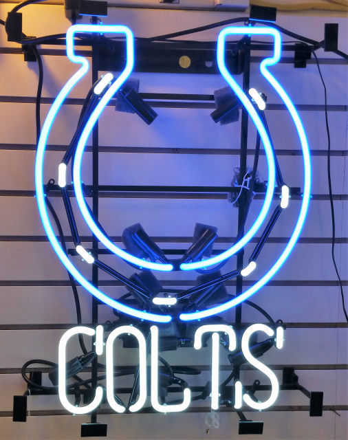 """New Indianapolis Colts NFL Man Cave Neon Sign 24""""x20"""""""