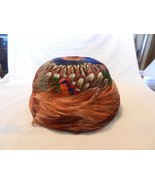 Vintage 1950s or 1960s Peacock Feather Hat, USA Union Made #272179 - $222.75