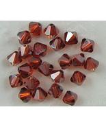 24 6mm Swarovski Crystal Bicone Crystal Red Magma Beads - $3.50
