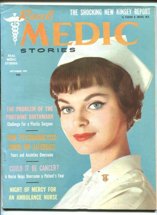 Primary image for REAL MEDIC STORIES #1-OCT 1958-EXPLOITATION-NURSE COVER-SOUTHERN STATES-vf
