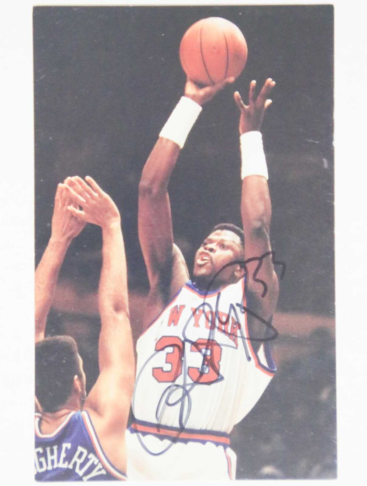 Patrick Ewing Signed Autographed Postcard - New York Knicks