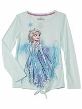Disney Frozen 2 Elsa Side Tie Long Sleeve Graphic T-Shirt Size L Large 1... - $9.48
