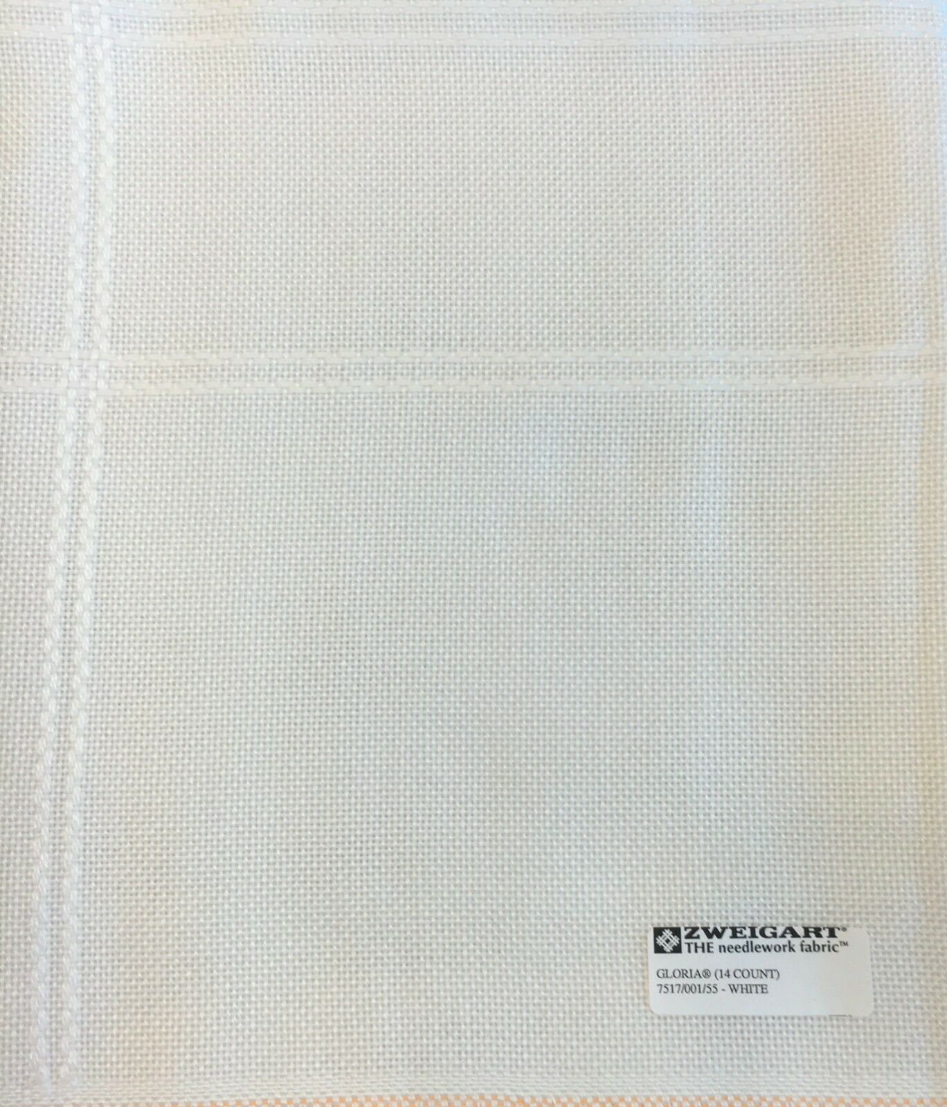 Primary image for ZWEIGART Gloria Afghan for Cross Stitch 14 count  48 X 55 White 1.3 yards NEW
