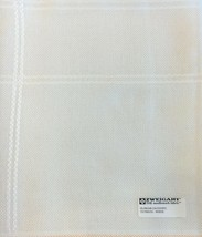 ZWEIGART Gloria Afghan for Cross Stitch 14 count  48 X 55 White 1.3 yard... - $50.30