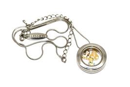 Bracciale Disney Round Locket Necklace Floating Belle Cinderella Floating Charms - $24.74