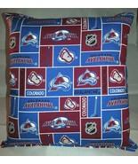 Avalanche Pillow Colorado Avalanche Pillow NHL Handmade in USA - $9.99