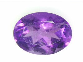 1.12 CT NATURAL AMETHYST LOOSE GEMSTONES PURPLE OVAL FACETED CUT 5.95 X ... - $17.25