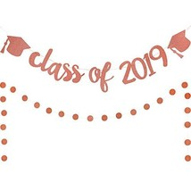 Graduation Party Banner Sets Include Class of 2019 Graduation Hat Banner... - $10.25
