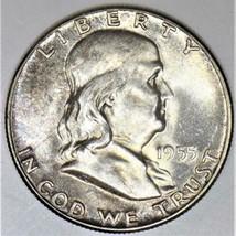 1955 Franklin Half Dollar; F.B.L., Choice Uncirculated; Nice Lite Tone - $59.39