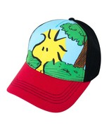 Snoopy Woodstock Full Color Youth Size Hat Black - $17.98