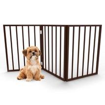 PETMAKER Freestanding Wooden Pet Gate Mahogany Dark Brown - $32.43