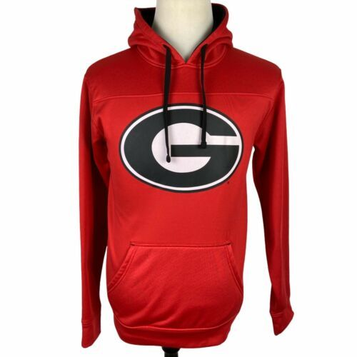 Primary image for Georgia Bulldogs Champion Hoodie Sweatshirt Small Red Black UGA G Dawgs