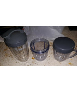 20KK17  ACCESSORIES FROM NUTRI-BULLET 900 (SOME NEVER USED), VERY GOOD C... - $11.78