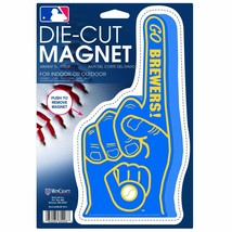 """MILWAUKEE BREWERS #1 Fan Finger Magnet, Die Cut @ 9"""" X 5"""" FREE Shipping - $10.70"""