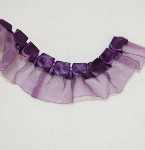Simplicity 176011001572 Purple Chiffon Ruffles Apparel And Craft Trim 10 Yards