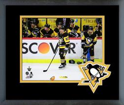 Sidney Crosby Penguins 2017-18 Playoff Action - 11x14 Logo Matted Framed Photo - $43.95