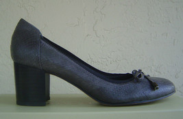 New Franco Sarto Gray Leather Pumps Size 7.5 M $89 - $30.52