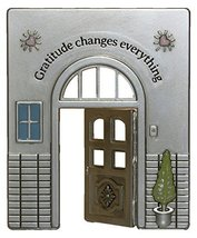 Gnz Doorway Of Life Inspirational Zinc Figurine -Gratitude Changes Every... - £7.58 GBP