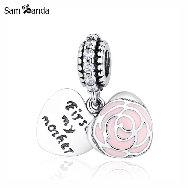Primary image for Buy Authentic Original 100% 925 Sterling Silver Charm Bead Mothers Rose Charms