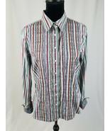 Robert Graham women L long sleeve shirt embroidered button front - $39.60